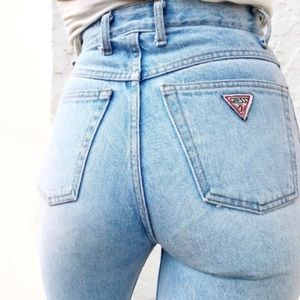 guess | vintage high waisted distressed mom jeans